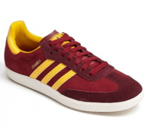 adidas samba red yellow